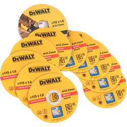 DeWalt DeWalt Thin Metal Cutting Discs 115 x 1.0 x 22.2mm - 30229 - from Toolstation