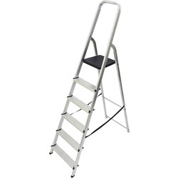 Werner High Handrail Step Ladder 6 Tread SWH 2.99m - 30254 - from Toolstation