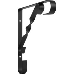 Ornamental Shelf Bracket 200 x 200mm Black