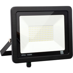 Zinc Zinc Slimline LED Floodlight IP65 100W 8000lm - 30365 - from Toolstation
