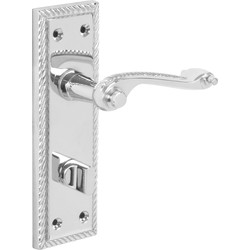 Hiatt Georgian Scroll Door Handles Bathroom Polished - 30377 - from Toolstation