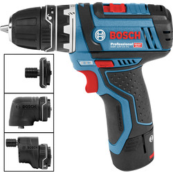 Bosch Bosch GSR 12V-15 FC Professional Drill Driver and GFA 12-X/B/W/E Professional Accessories 2 x 2.0Ah - 30433 - from Toolstation