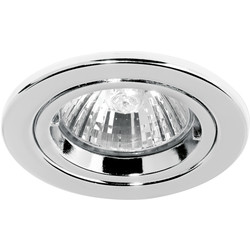 Halolite Cast Ring 240V/12V Fixed Downlight Polished Chrome - 30434 - from Toolstation
