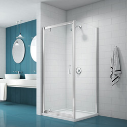 Merlyn Nix Merlyn NIX Pivot Shower Enclosure Door and Side Panel 760 x 760mm - 30578 - from Toolstation