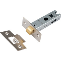 Eclipse Ironmongery Premium Sprung Bolt Thru Tubular Mortice Latch 76mm Nickel Plated - 30647 - from Toolstation