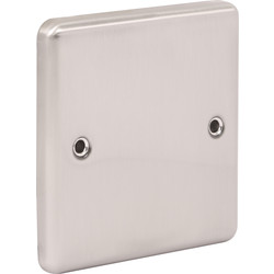 Wessex Wiring Wessex Brushed Stainless Steel Blank Plate 1 Gang - 30673 - from Toolstation