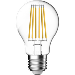 Energetic Lighting Energetic LED Filament Clear GLS Dimmable Lamp 5.1W ES 470lm - 30679 - from Toolstation