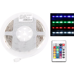 Unbranded LED IP20 RGB Flexible Strip Kit 5m Remote Controlled - 30720 - from Toolstation