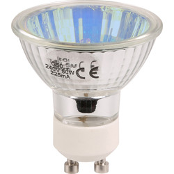 Tru Colour GU10 Halogen Lamp 50W Blue - 30825 - from Toolstation