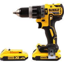 DeWalt DeWalt DCD796 18V XR Li-Ion Cordless Brushless Combi Drill 2 x 2.0Ah - 30986 - from Toolstation