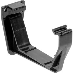 Aquaflow 114mm Square Line Fascia Bracket Black - 31039 - from Toolstation