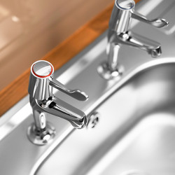 Ebb + Flo Contract Lever Pillar Kitchen Taps