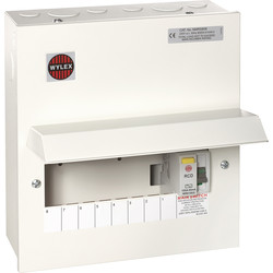 Wylex Wylex Metal 17th Edition Amendment 3 100A DP Consumer Unit 8 Way 100A DP 30mA RCD - 31115 - from Toolstation
