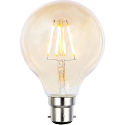 Inlight Vintage LED Filament G80 Globe Bulb Lamp 4W BC 300lm Tint - 31194 - from Toolstation