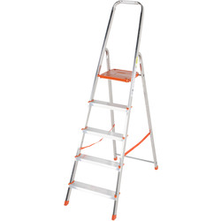 TB Davies TB Davies Light Duty Platform Step Ladder 5 Tread SWH 2.7m - 31295 - from Toolstation
