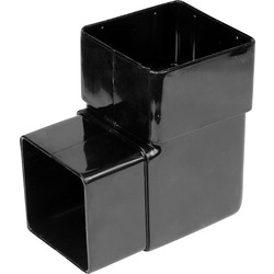 Aquaflow 65mm Square Offset Bend 92.5° Black - 31301 - from Toolstation