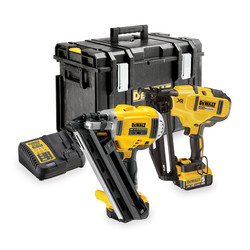 DeWalt DCK264P2-GB 18V XR Cordless Brushless Nailer Twin Pack