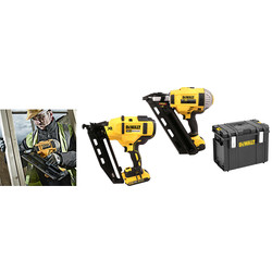 DeWalt DCK264P2-GB 18V XR Cordless Brushless Nailer Twin Pack 2 x 5.0Ah