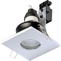 Spa Lighting SPA Square Shower Light GU10 35W IP65 White - 31377 - from Toolstation