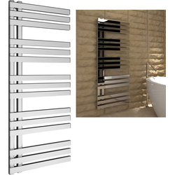 Kudox Kudox Tevas Designer Chrome Towel Radiator 1200 x 500mm 1187Btu - 31398 - from Toolstation