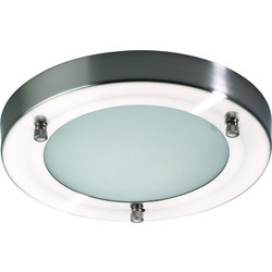 Mistral IP44 G9 LED Satin Nickel / Glass Bathroom Light 1 x 2.5W 200mm