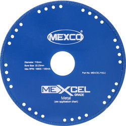 Mexco Mexcel Metal Cutting Diamond Blade 115mm - 31448 - from Toolstation