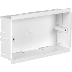 Falcon Trunking Trunking Accessory Box 2 Gang 146 x 86 x 36mm - 31501 - from Toolstation