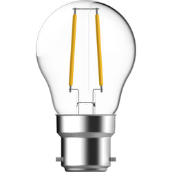 Energetic Lighting Energetic LED Filament Clear Ball Lamp 2.1W BC 250lm - 31581 - from Toolstation