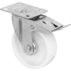 MOVE IT Swivel Wheel with Brake Castor 100mm 125kg - 31614 - from Toolstation