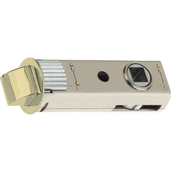 "union Union JFL26 Push Fit Tubular Latch Polished Brass 3.0"" - 31625 - from Toolstation"