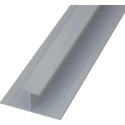Mermaid Mermaid Laminate Shower Wall Panel Trims White H Joint - 31642 - from Toolstation