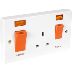 Crabtree Cooker Switch & Socket 45A