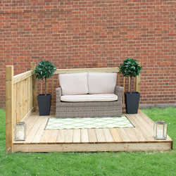 Forest Forest Garden Patio Deck Kit 130cm (h) x 249cm (w) x 244cm (d) - 31712 - from Toolstation