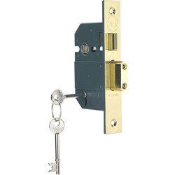 Yale BS 5 Lever Mortice Sashlock 76mm Polished Brass - 31796 - from Toolstation