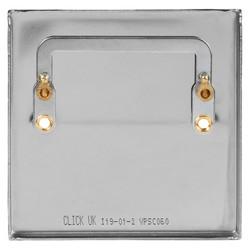 Click Deco Satin Chrome Blank Plate