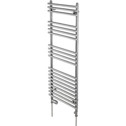 Pitacs Aeon Windsor Designer Towel Warmer 1612 x 493mm Btu 2705 Brushed Stainless Steel - 31866 - from Toolstation