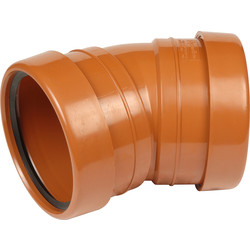 Aquaflow Double Socket Bend 110mm 30° - 31936 - from Toolstation