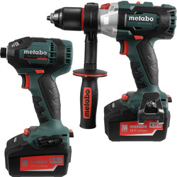Metabo LXTBL 18V Li-Ion Cordless Brushless Combi Drill & Impact Driver Twin Pack 2 x 4.0Ah