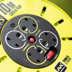 Masterplug Pro XT 4 Socket 13A Cassette Cable Reel