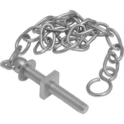 "Chain 12"" Oval Stay & Hook"