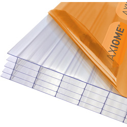 Axiome Axiome 25mm Polycarbonate Clear Fivewall Sheet 1000 x 2000mm - 32048 - from Toolstation