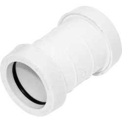 Aquaflow Push Fit Straight Coupling 40mm White - 32110 - from Toolstation