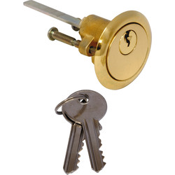 Nightlatch Cylinder Brass - 32134 - from Toolstation