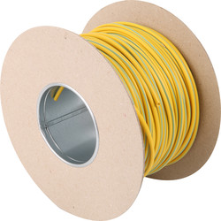 Unbranded PVC Earth Sleeving 100m 3mm Green/Yellow On Drum - 32146 - from Toolstation