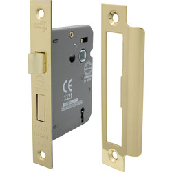 3 Lever Mortice Sashlock 75mm Electro Brass - 32200 - from Toolstation