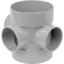 Aquaflow Short Boss Pipe 110mm Grey - 32314 - from Toolstation