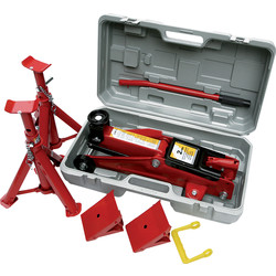 Hilka Hilka Trolley Jack Kit in Case 2 Tonne - 32337 - from Toolstation