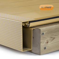 Alupave Alupave Fireproof Flat Roof & Decking Side Gutter Sand 3m - 32383 - from Toolstation