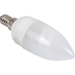 Sylvania Sylvania Energy Saving CFL Candle Lamp T2 9W SES 450lm A - 32412 - from Toolstation