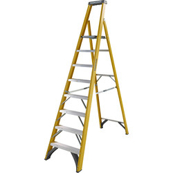 Youngman Youngman Fibreglass Platform Step Ladder 8 Tread SWH 3.62m - 32487 - from Toolstation